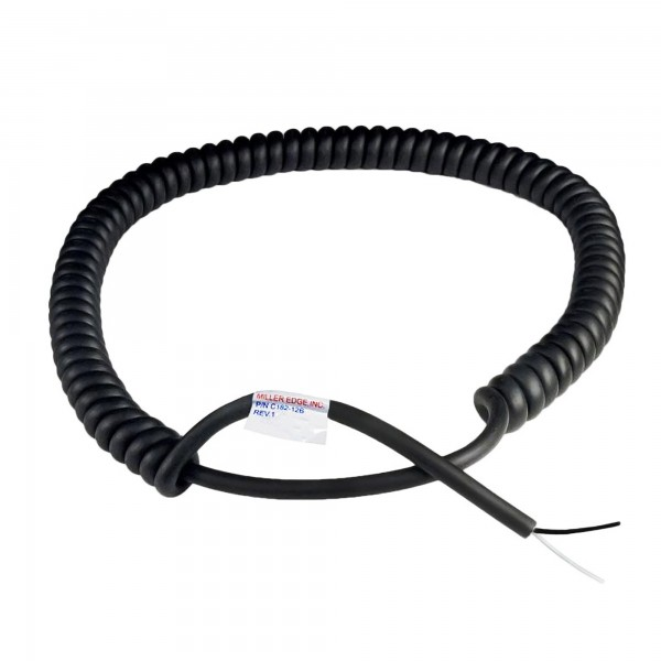 Miller Edge Coil Cord - 18 Gauge - 2 Conductor - 24 ft. Expanded - C182-24 (12 ft. C182-12B Model Shown)