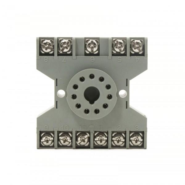 11-pin Socket Base DIN Rail Mount