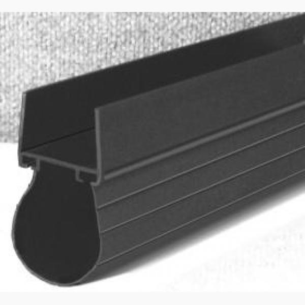 Miller Edge Bottom Loop Seal - Black - 7 in - LS-0107 (Per Foot)