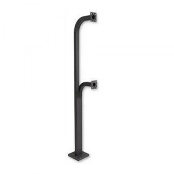 "Gooseneck Dual Pedestal 42"" and 72"" High Surface Mount - MMTC D-PED"