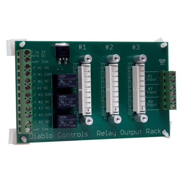 Diablo Three Position Card Rack With Built-In Relay - RK-3-R